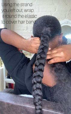 Hair Twist Styles, Hair Ponytail Styles, Braids Hairstyles Pictures, Black Girl Braided Hairstyles, Braided Ponytail Hairstyles, African Braids Hairstyles, Wig Hairstyles, Curly Hair Styles, Natural Hair Styles