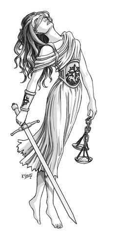 Always wanted a tattoo of the scales of justice... Possible artwork for it!