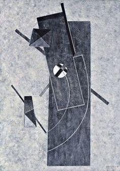 "thirdorgan: ""Lukoviczky Endre (Hungary, 1939) Grau-Schwarz Komposition I-II-III. 2008 """