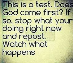 Gods always first