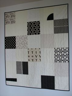Black and White Quilt Modern Quilt Lap by CentralFabrications, $115.00
