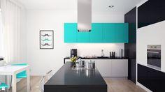 Kuchnia z wyspą w stylu Tiffany Blue - zdjęcie od Okapy kuchenne - Kuchnia - Styl Nowoczesny - Okapy kuchenne