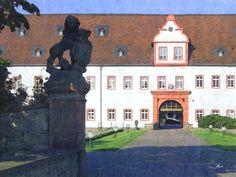 'Schloss Heusenstamm, RheinMain - Portal' von Dirk h. Wendt bei artflakes.com als Poster oder Kunstdruck $22.17