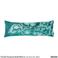 Tie Dye Turquoise Body Pillow by Janz
