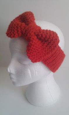 Musings of a knit-a-holic from Wales: Free Knitting Pattern: Beau Bow Headband