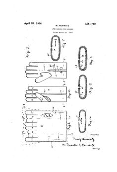 M. Horwitz 1924 guide for fur lining for Gloves