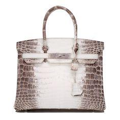 0262c73dcdcb  Hermes Birkin  Bag White Matte Niloticus Himalayan Crocodile Palladium Hardware  Hermes Handbags