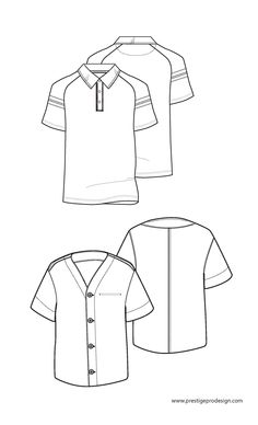 Baseball T Shirt Design Template, Fashion Design Template, Fashion Templates, Pattern Fashion, Flat Drawings, Flat Sketches, Technical Drawings, Clothing Sketches, Fashion Sketches