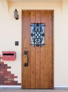 愛情たっぷりのおうち Windows And Doors, Tall Cabinet Storage, Gate, Shed, Home Decor, Wall Mount Mailbox, Painted Doors, Interiors, Manualidades