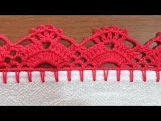 Easy Cross Stitch Patterns, Crochet Edging Patterns, Crochet Lace Edging, Simple Cross Stitch, Crochet Borders, Crochet Doilies, Knit Crochet, Baby Girl Crochet Blanket, Embroidery Stitches Tutorial