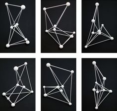 Orion (sculpture)  Visualising the actual positions of the constellation  white painted wood  330 X 520 X 550 mm