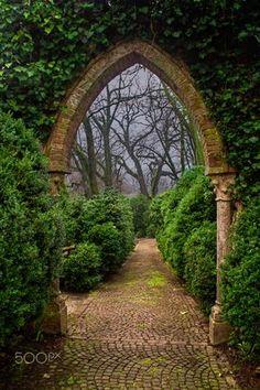 Ideas Green Landscape Nature Paths For 2019 Beautiful Landscapes, Beautiful Gardens, The Secret Garden, Secret Gardens, Nature Aesthetic, Aesthetic Dark, Parcs, Garden Gates, Garden Arbor