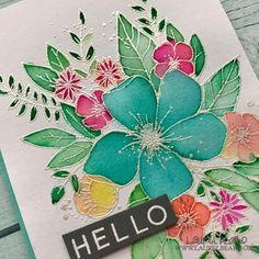 Hello Watercolored Florals – Simply Cardmaking with Laurel Beard Christmas Tree Design, Christmas Cards, Concord And 9th, Card Companies, Copics, Watercolor Cards, Flower Cards, Diy Cards, Homemade Cards