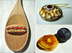 Jessica Hlavac's Tiny Food Art - dollhouse food