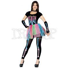 Disfraz Esqueleto Colores para mujer - Dresoop.es