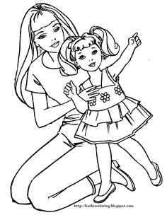 1955 best barbie coloring pages images on Pinterest
