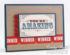 Stamps: You're Amazing (Stampin' Up) --- Punches: Ticket Duo Builder (Stampin' Up)