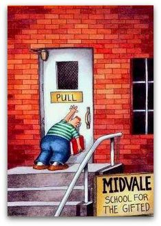 I'm almost certain this was taken outside my high school. (Gary Larson, The Far Side)