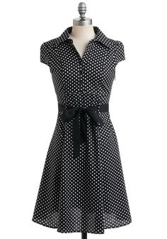 Hepcat Dress in Black Licorice. Keep up with the fast tempo of trendsetting style, and swing into a look of pure, polished sophistication with this adorable, vintage-inspired, A-line frock. #black #modcloth