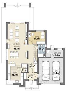 www.html?w& dd_files Image projekty carmenII Dream House Plans, Home Kitchens, Floor Plans, Flooring, How To Plan, Modern, Nova, Home Plans, Plants