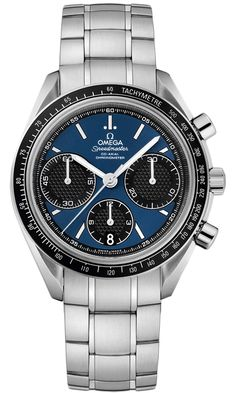 New Omega Speedmaster Racing 326.30.40.50.03.001 Steel Watch Blue Dial Caliber 3330 Chronometer Movement