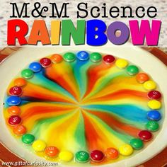 M&M science rainbow | Candy science for kids | M&M STEAM activity for kids | M&M STEM activity for kids | Preschool science activity | M&M rainbow science | Candy STEAM | Candy STEM || Gift of Curiosity