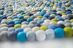 Boy's color felt ball rug, Felt ball rugs, Handmade felt ball rugs, free home delivery. by feltnyarn on Etsy https://www.etsy.com/listing/176798931/boys-color-felt-ball-rug-felt-ball-rugs