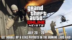 Deze week dubbel RP en geld in GTA Online: The Humane Labs Raid Heists