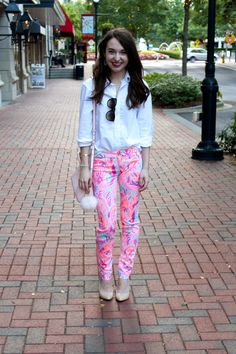 Caralina Style: Lilly Pulitzer Kelly pants styled for work