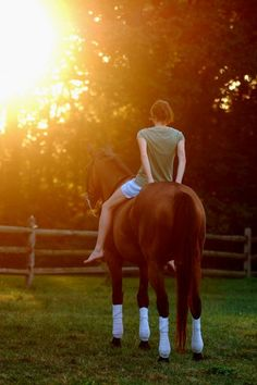My Favorite Thing To Do Besides Rodeo. . . bareback Ridingg.