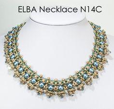 ELBA SuperDuo Beadwork Necklace  DIY Beading Kit by bead4me