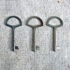 Vintage beautiful key  Retro wardrobe keys Old by MyWealth on Etsy