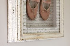 frame 1st pair of ballet shoes!  I so doing this as soon as I find them. I know I have kept all her dance shoes so far :)