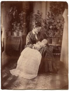 A Mother & Child, Memento Mori, c 1880s