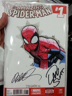 Spider-man Sketch by Humberto Ramos (@SDCC2014)