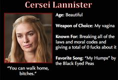 Game of Thrones Trading Cards - Cersei Lannister