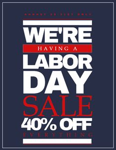 Labor Day Sale Poster Click On The Image To Customize On