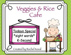 """This is a fun hands on center to help your students learn the sight word spellings. Students write the words in the rice using chopsticks or their fingers. It's a great sensory activity and is very exciting, too!   Sight words for grade K-2 are provided.  Center can also be used for identifying letters/numbers, spelling various vowel patterns, math skills, etc. Blank """"Veggie"""" cards are provided for you to adapt the center to your lessons.  Content: direction card 84 """"veggie"""" cards..."""