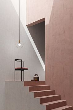 Notoostudio, a creative photo and imaging laboratory presents Concrete evolution / Pink Obsession, between architecture and geometric shapes. 3d Interior Design, Cafe Interior, Interior And Exterior, Font Design, Modelos 3d, Pink Home Decor, Dark Interiors, Geometric Designs, Geometric Shapes