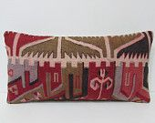 12x24 family kilim pillow khaki throw pillow red decorative pillow kelim pillow cover crochet pillow cover organic pillow case lumbar 24300
