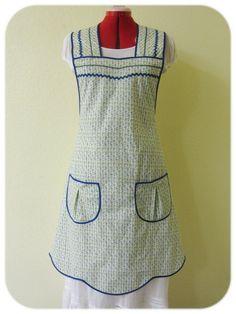 "1950s ""Margaret's Garden"" apron"