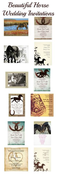 Beautiful Horse Wedding Invitations for a country cowgirl wedding! http://custom-personalized-wedding-invitations.com/horse-wedding-invitations/