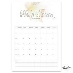 Ilmainen tulostettava huhtikuun 2018 seinäkalenteri #ilmainen#tulostettava #kalenteri #2018 #huhtikuu #free #print#calendar #April2018