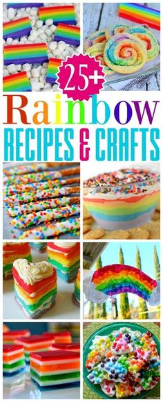 More than 25 Rainbow Recipes and Crafts that are bound to make you smile! Perfect for St. Patrick's Day, parties and more! // Mom On Timeout