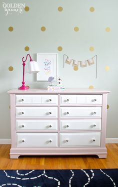 Best Pink And White Chalk Painted Dresser Antoinette Best Of 400 x 300