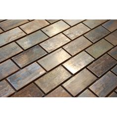 Medium Brick Antique Copper Mosaic Tile