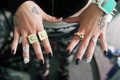hand tattoo nails Cher Lloyd