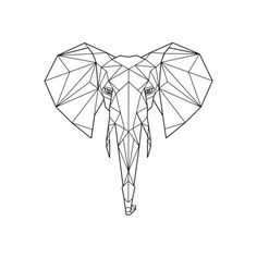 Geometric Elephant Print ($19) ❤ liked on Polyvore featuring home, home decor, wall art, bird wall art, safari wall art, geometric home decor, animal wall art and bird home decor