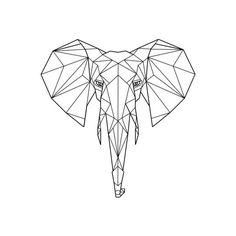 Geometric Elephant Print ($19) ❤ liked on Polyvore featuring home, home decor, wall art, bird wall art, safari wall art, geometric home decor, animal wall art and bird home decor