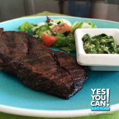 Sirloin Steak with Spicy Cilantro Sauce a Yes You Can Diet Plan Dinner Recipe